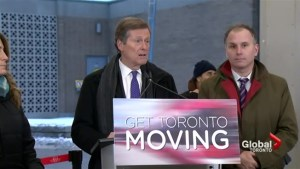 Tory promotes additional $80 million funding for TTC
