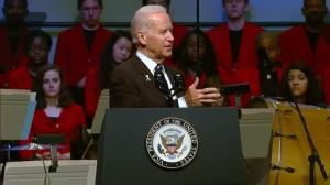 Joe Biden speaks at one-year anniversary of Boston Bombing