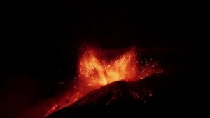 Mount Etna erupts again