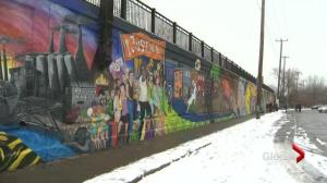 Pointe-Saint-Charles mural vandalized