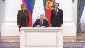Putin signs bill completing annexation of Crimea into Russia