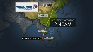 Search continues for missing Malaysian plane