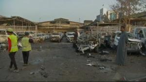 Raw video: Aftermath of twin bombings in Baghdad