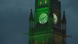 Ottawa's Peace Tower lights up for Flaherty