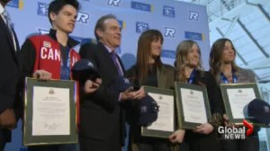 Olympic Freestyle Skiers finally return home after success in Sochi.