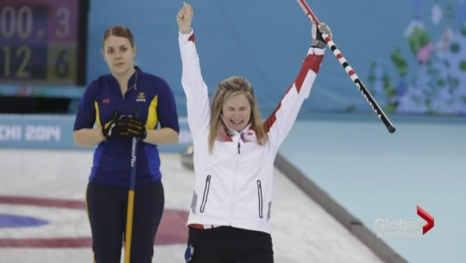 Jones Curling Sochi Curling Medal in Sochi