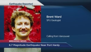 SFU geologist Brent Ward on Port Hardy earthquake