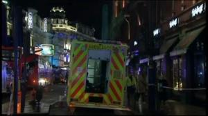 Raw video: Scene outside Apollo theatre following collapse