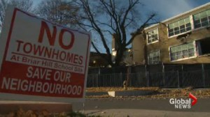 Neighbourhood upset about proposed townhomes