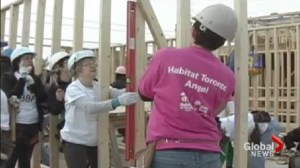 More than one-thousand women are helping to build affordable homes for families in need in Toronto.