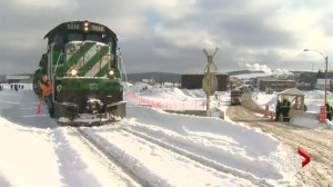 First train passes through Lac-Megantic
