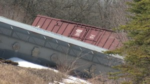 Tracks at derailment site flagged for track and surface conditions