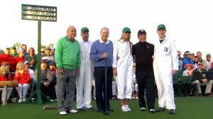 The Masters: Three legends take ceremonial tee-off