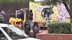 South Africans gather outside Mandela's Home