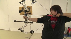 Legally blind archer excels despite visual impairment