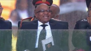 South African president booed by crowd at Mandela memorial