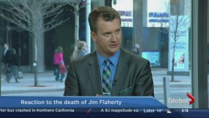 Reaction to Jim Flaherty's death at Queen's Park
