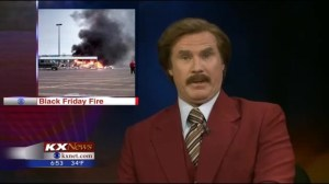 Ron Burgundy (Will Ferrell) anchors local U.S. newscast