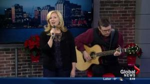 Linda Brooks sings tune from Christmas album