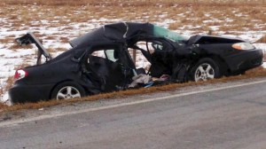 Serious crash near Okotoks sends man to hospital