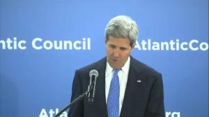 "Kerry calls situation in Ukraine a ""wake up call"" for NATO"