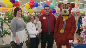 Mother shows support for Children's Hospital of Saskatchewan