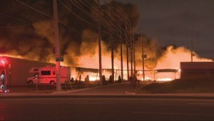 Firefighters injured battling 3-alarm industrial blaze in Mississauga