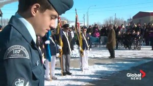 Nanton Air Museum Remembrance Day service