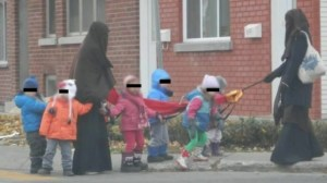 Parents support niqab-clad workers