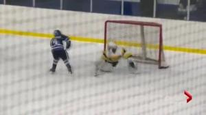 Ten-year-old scores incredible goal in Atom hockey championship