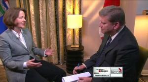 Alberta premier criticizes Harper's foreign investment rules
