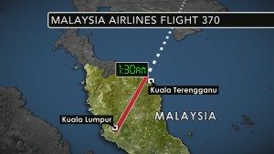 Missing Malaysia Airlines flight may have turned back