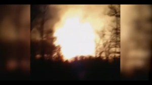 Amateur video of pipeline gas fire in Kentucky