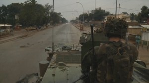 Raw: French military forces patrol capital of CAR