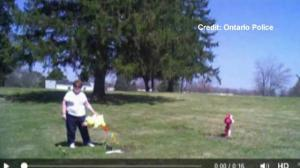 Ohio police capture footage of woman stealing items from grave site