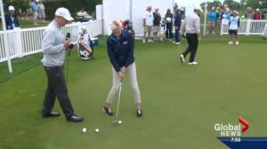 Susanne Fox gets in the swing of things at the Shaw Charity Classic