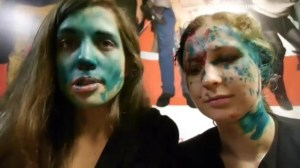 Members of Pussy Riot attacked with green antiseptic