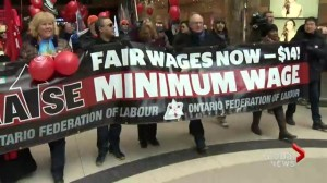 Ontario's minimum wage workers are rallying for a raise