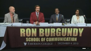 Ron Burgundy gets his own school of communication for a day