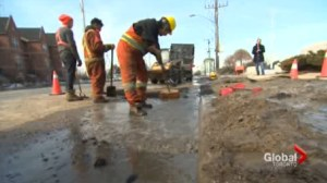 Toronto's water mains having the worst winter in 20 years