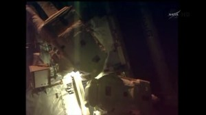 Astronauts install new computer on I.S.S. spacewalk