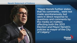 Nenshi files statement of defence in Wenzel suit