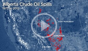 Crude Awakening:  37 years of Alberta crude oil spills