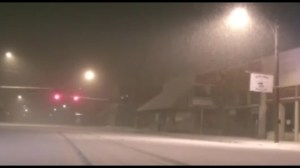 Raw video: Snow storm footage in Amarillo, Texas