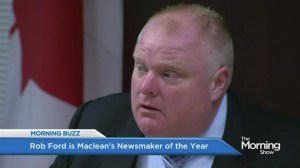 Toronto Mayor Rob Ford named Maclean's 'Newsmaker of the Year'