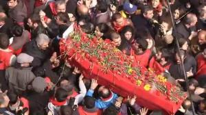 Raw video: Funeral held for boy killed in protests in Turkey