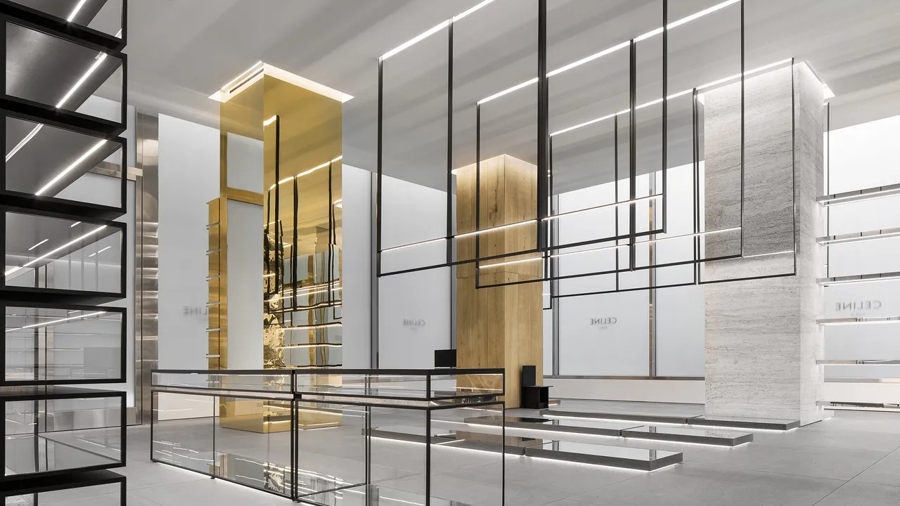 Store Metal Hedi Slimane S New Celine Store Is The Coolest Art Gallery You Can