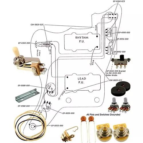 Allparts EP-4135-000 Wiring Kit for Jazzmaster Guitar Center