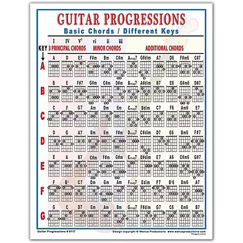 Walrus Productions Guitar Progressions Chord Chart Guitar Center