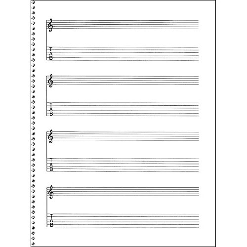 Music Sales Passantino Guitar Manuscript Paper Spiral pad #159 - 4